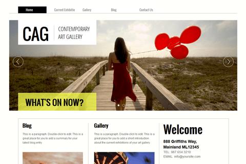 Website Templates And Designs Websitecom - Online art gallery website template